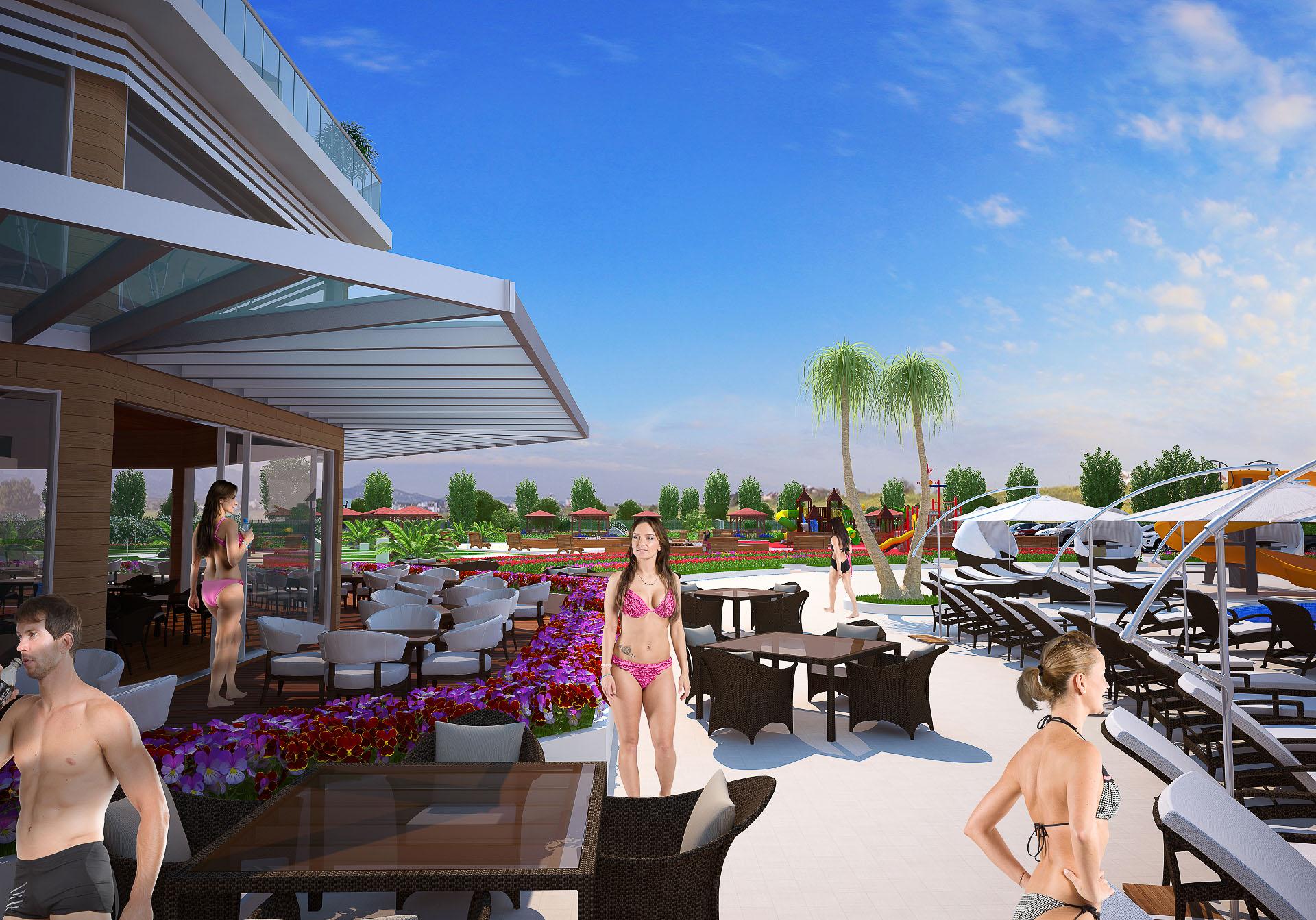 Restaurant og pool