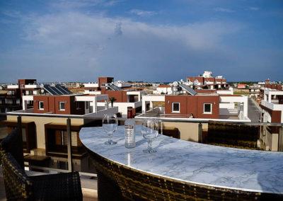 Terrasse med bardisk