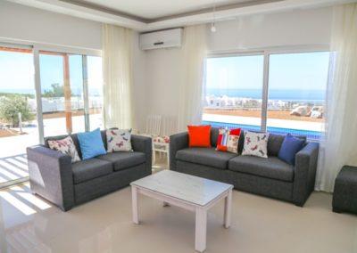 Stue med utsikt over Middelhavet