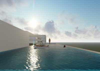Grand Sapphire - infinity pool på taket