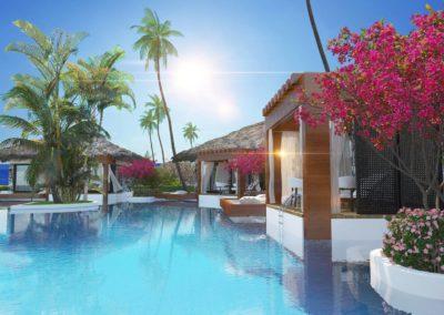 Maldives Homes med Middelhavet i bakgrunnen