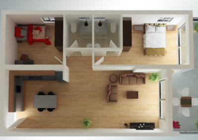 2 soveroms med 2 bad og stor balkong (2)