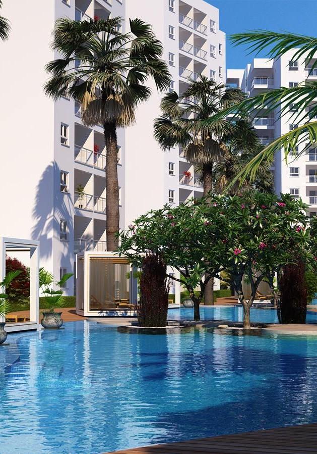Caesar Resort, Iskele, Middelhavet, feriebolig, strand, sol, Long Beach, pool, basseng, restaurant