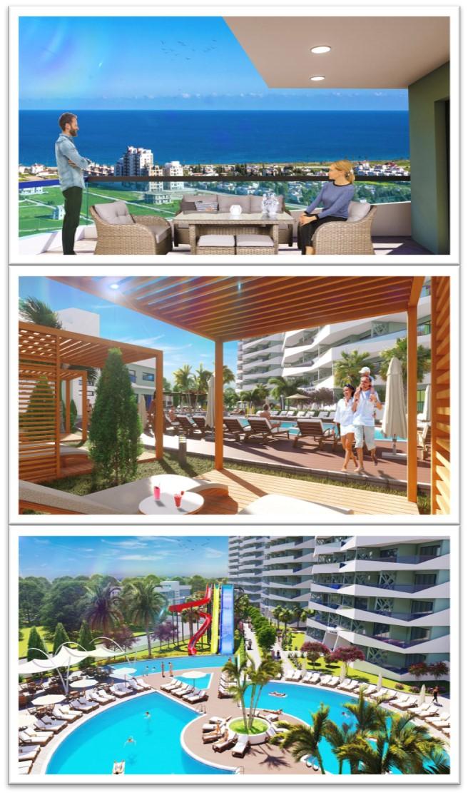 Sky Deluxia Life, Iskele, Middelhavet, feriebolig, strand, sol, Long Beach, pool, basseng, restaurant, utsikt