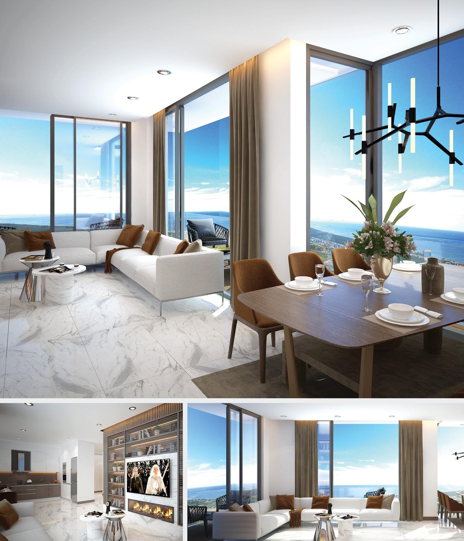 Grand Sapphire, Iskele, Middelhavet, feriebolig, strand, sol, Long Beach, pool, basseng, restaurant, utsikt